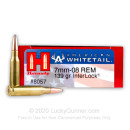 Cheap 7mm-08 Rem Ammo For Sale - 139 gr InterLock Soft Point - Hornady American Whitetail Ammo Online - 20 Rounds