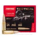 Cheap 7.62x39 Ammo For Sale - 124 Grain FMJ Ammunition in Stock by Norma - 20 Rounds
