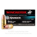 Premium 9mm Luger Ammo For Sale – 147 Grain JHP Ammunition in Stock by Winchester Ranger - 50 Rounds