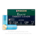 """Cheap 12 Gauge Ammo For Sale - 2-3/4"""" 1 oz. #7.5 Shot Ammunition in Stock by Fiocchi Crusher - 25 Rounds"""