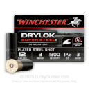 """Premium 12 Gauge Ammo For Sale - 1-3/8 oz 3"""" #3 Steel Shot Ammunition in Stock by Winchester DryLok Super Steel - 25 Rounds"""