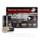 "Cheap 12 Gauge Ammo For Sale - 3"" 1 3/8 oz. BB Shot Ammunition in Stock by Winchester Blind Side - 25 Rounds"