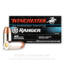 Cheap 45 Auto Law Enforcement Ammo For Sale - 230 gr JHP Winchester Ranger 45 Auto Ammunition In Stock - 50 Rounds