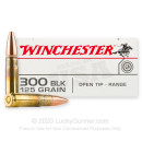 Cheap 300 AAC Blackout Ammo For Sale - 125 Grain Open Tip Ammunition in Stock by Winchester USA - 20 Rounds