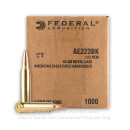 Bulk 223 Rem Ammo For Sale - 55 gr FMJBT Ammunition In Stock by Federal American Eagle - 1000 Rounds