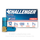 "Bulk 12 Gauge Ammo For Sale - 2-3/4"" 1oz. #7.5 Shot Ammunition in Stock by Challenger - 250 Rounds"
