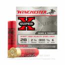 "28 Gauge Ammo - Winchester Super-X Steel 2-3/4"" #6 Shot - 25 Rounds"