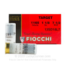 "Cheap 12 Gauge Ammo For Sale - 2-3/4"" 1-1/8 oz. #7-1/2 Shot Ammunition in Stock by Fiocchi Target Shooting Dynamics - 25 Rounds"