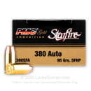 380 Auto Ammo In Stock - 95 gr JHP - 380 ACP Ammunition by PMC Starfire For Sale - 20 Rounds