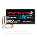Cheap 380 Auto Defense Ammo In Stock - 95 gr JHP - 380 ACP Ammunition by Winchester Ranger For Sale - 50 Rounds