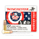 Cheap 22 LR Ammo For Sale - 36 Grain CPHP Ammunition in Stock by Winchester USA Game & Target - 500 Rounds