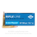 Cheap 8mm Mauser Ammo For Sale - 196 Grain SP Ammunition in Stock by Prvi Partizan - 200 Rounds