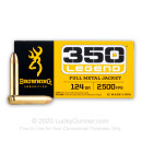 Cheap 350 Legend Ammo For Sale - 124 Grain FMJ Ammunition in Stock by Browning - 20 Rounds