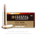 Premium 223 Rem Ammo For Sale - 55 Grain SP Ammunition in Stock by Federal LE Tactical - 20 Rounds