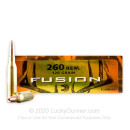 Premium 260 Rem Ammo For Sale - 120 Grain SP Ammunition in Stock by Federal Fusion - 20 Rounds