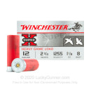 """Bulk12 Gauge Ammo For Sale - 2-3/4"""" 1-1/8 oz. #8 Shot Ammunition in Stock by Winchester Super-X Upland Heavy Game Loads - 250 Rounds"""