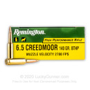 Bulk 6.5 Creedmoor Ammo For Sale - 140 Grain BTHP Ammunition in Stock by Remington High Performance Rifle - 200 Rounds