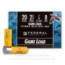 """Cheap 20 ga Ammo For Sale - 2-3/4"""" 7/8 oz #8 lead shot by Federal Game-Shok - 25 Rounds"""