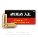 10mm Auto Ammo For Sale - 180 gr FMJ - Federal American Eagle 10mm Ammunition In Stock