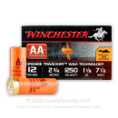 "Cheap 12 Gauge Ammo For Sale - 2-3/4"" 1-1/8 oz. #7.5 Shot Ammunition in Stock by Winchester AA Tracker - 25 Rounds"