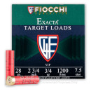 Cheap 28 Ga Fiocchi #7-1/2 Target Ammo For Sale - Fiocchi Premium Exacta 28 Ga Shells - 25 Rounds