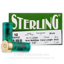 """Bulk 12 Gauge Ammo For Sale - 2-3/4"""" 1-1/8oz. #8 Shot Ammunition in Stock by Sterling - 250 Rounds"""