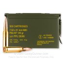 Bulk 7.62x51 Ammo For Sale - 145 Grain FMJBT Ammunition in Stock by Prvi Partizan - 500 Rounds in Ammo Can