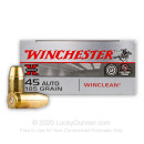 45 ACP Ammo - Winchester Super-X WinClean 185gr FMJ - 500 Rounds