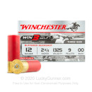 "Premium 12 Gauge Ammo For Sale - 2-3/4"" 9 Pellet 00 Buckshot Ammunition in Stock by Winchester Win3Gun - 250 Rounds"