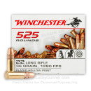 22 LR Ammo For Sale - 36 gr Copper Plated Hollow Point Ammunition CPHP - Winchester - 525 Rounds