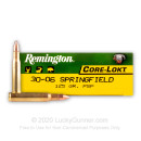 30-06 Ammo For Sale - 125 gr PSP - Remington Express Ammo Online - 20 Rounds