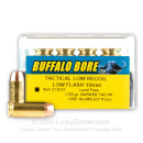 Self-Defense 10mm Ammo For Sale - 155 Grain Barnes Hollow Point Ammunition in Stock by Buffalo Bore - 20 Rounds