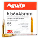 Cheap 5.56x45 Ammo For Sale - 55 Grain FMJBT Ammunition in Stock by Aguila - 300 Rounds