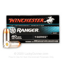 Premium 40 S&W Ammo For Sale - 180 Grain JHP Ammunition in Stock by Winchester T-Series - 50 Rounds - LE Trade-In