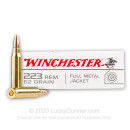 Cheap 223 Rem Ammo For Sale - 62 gr FMJ Ammunition In Stock by Winchester USA - 20 Rounds