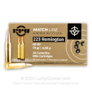 Cheap Match Grade 223 Rem Ammo For Sale - 75 Grain HPBT Ammunition In Stock by Prvi Partizan - 20 Rounds