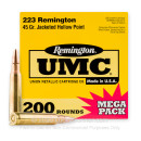Cheap 223 Rem Ammo For Sale - 45 Grain JHP Ammunition in Stock by Remington UMC - 200 Rounds