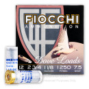 """Bulk 12 Gauge Ammo For Sale - 2 3/4"""" 1 /1/8 oz. #7 1/2 Shot Ammunition in Stock by Fiocchi Game & Target - 250 Rounds"""