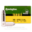 Cheap 38 Special Ammo For Sale - 158 Grain LSWC Ammunition in Stock by Remington - 50 Rounds