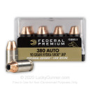 Bulk 380 Auto Ammo For Sale - 90 Grain JHP Ammunition in Stock by Federal Hyrda-Shok - 200 Rounds