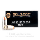 Premium 357 Sig Ammo In Stock - 125 gr JHP - Speer Gold Dot Law Enforcement Duty Ammunition For Sale Online - 50 Rounds
