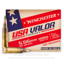 Cheap 5.56x45 Ammo For Sale - 62 Grain FMJ M855 Ammunition in Stock by Winchester USA VALOR - 125 Rounds