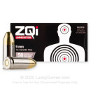 Bulk 9mm Ammo For Sale - 124 Grain FMJ Ammunition in Stock by ZQi - 1000 Rounds
