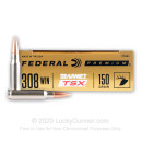 Premium 308 Ammo For Sale - 150 Grain Barnes TSX Ammunition in Stock by Federal Vital-Shok - 200 Rounds