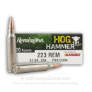 Premium 223 Rem Ammo For Sale - 62 Grain TSX Ammunition In Stock by Remington Hog Hammer - 20 Rounds