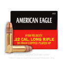 22 LR Ammo For Sale - 38 gr CPHP Ammunition by Federal American Eagle In Stock