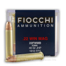 Bulk 22 WMR Ammo For Sale - 40 gr JHP - Fiocchi 22 Magnum Rimfire Ammunition In Stock - 500 Rounds