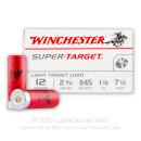 "12 Gauge Ammo - 2-3/4"" 1-1/8 oz. #7-1/2 Lead Shot  - Winchester Super-Target - 250 Rounds"