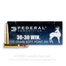 30-30 Ammo For Sale - 170 gr SP - Federal Power-Shok Ammo Online