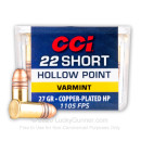Cheap 22 Short Ammo For Sale - 27 gr CPHP - CCI Short Target Ammunition In Stock - 100 Rounds